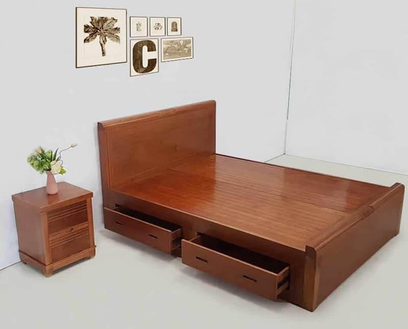 Giường gỗ 1m6 mẫu GA1603X
