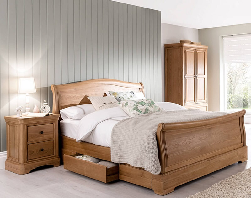 Giường gỗ 1m6 mẫu GA1606X