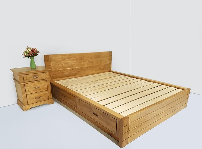 Giường gỗ 1m6 mẫu GA1607N
