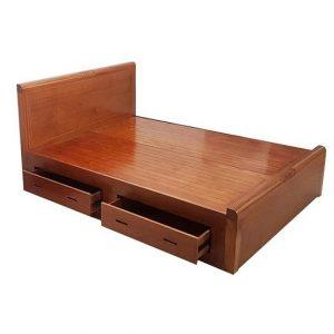 Giường gỗ 1m8x2m - Mẫu 1m8-3