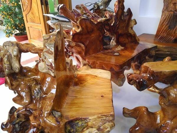 Bàn ghế gỗ sao xanh