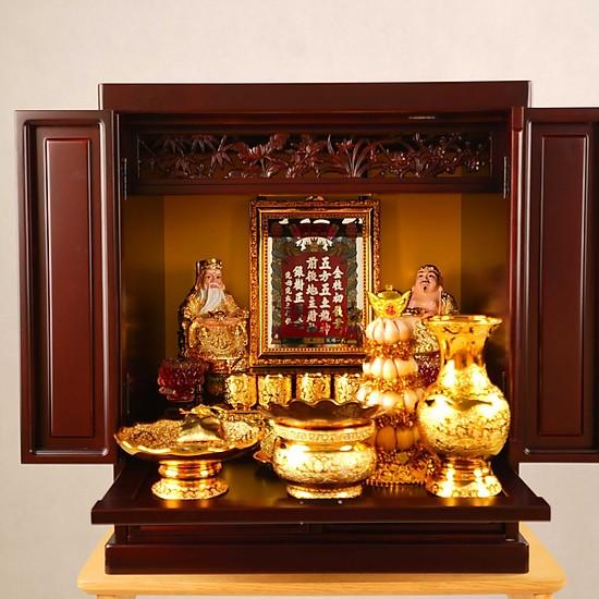 Cách bố trí bát hương trên bàn thờ ông Thần tài - ông Địa