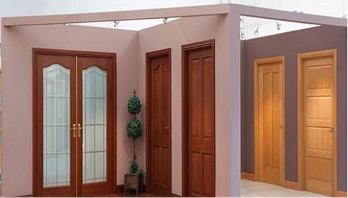 Mẫu cửa gỗ 2 cánh đẹp cho cửa hậu