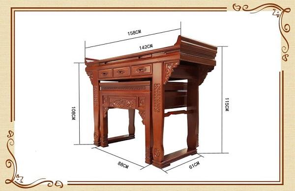 kích thước bàn thờ theo phong thủy