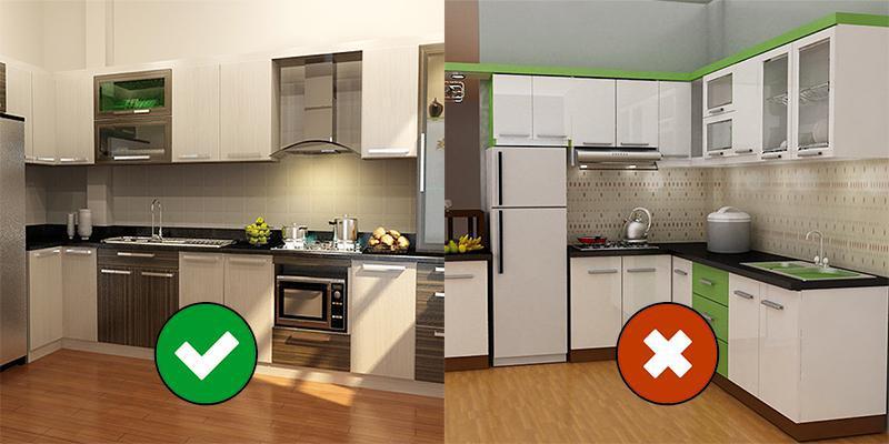 Không đặt bếp gần tủ lạnh