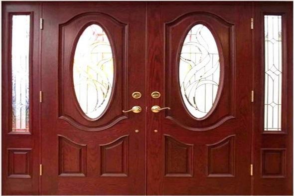 Mẫu cửa gỗ 4 cánh hiện đại