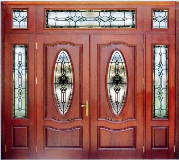 Mẫu cửa gỗ 4 cánh mặt tiền