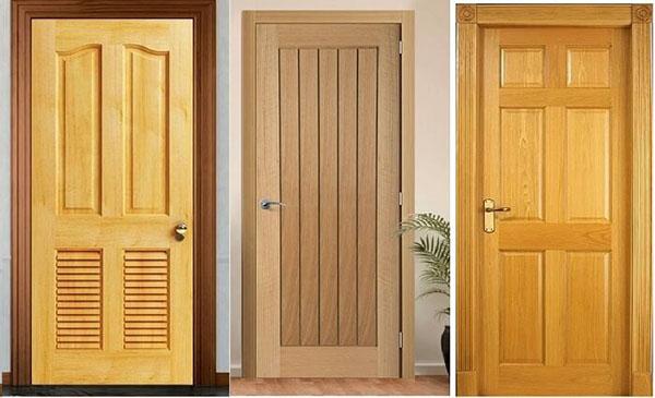 Mẫu cửa gỗ tự nhiên hiện đại