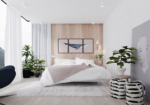 Phòng ngủ màu trắng