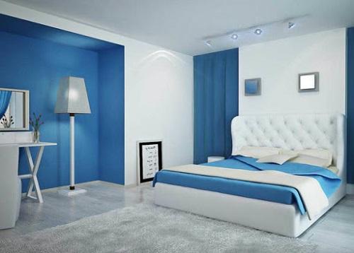 Phòng ngủ màu xanh nước biển