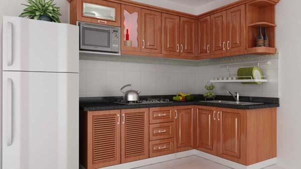 Tủ bếp gỗ tự nhiên cao cấp, sang trọng, giá tốt tại TP.HCM