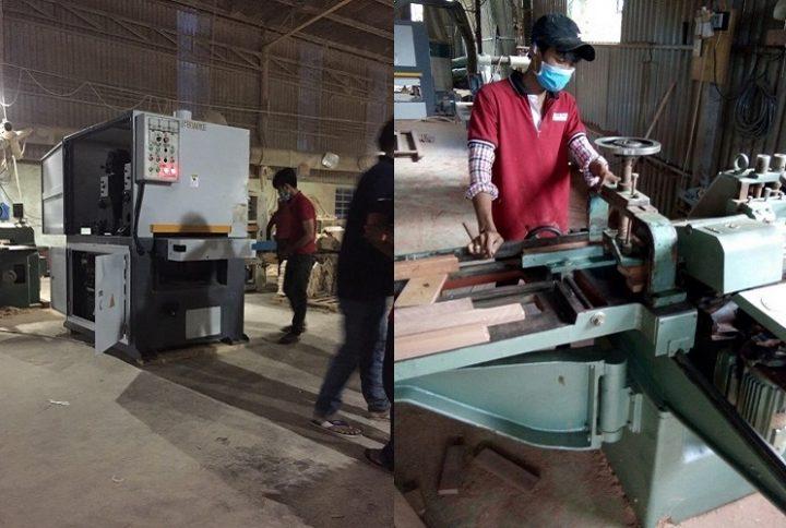 Nhân viên tại xưởng Lac An craft wood