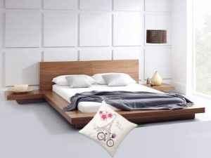 Giường gỗ 1m2 - Mẫu GA1200