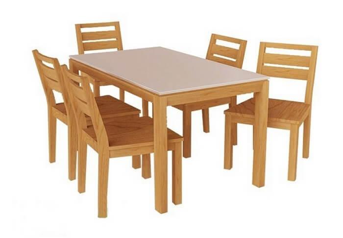 bàn ghế gỗ sồi Mỹ