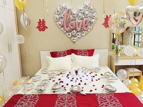 Cách trang trí phòng cưới ở nông thôn đơn giản mà rất đẹp