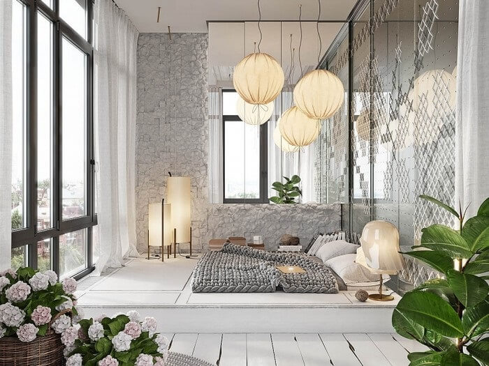 Phong cách phòng ngủ không cần giường