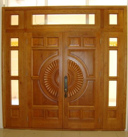 cửa gỗ 4 cánh hiện đại