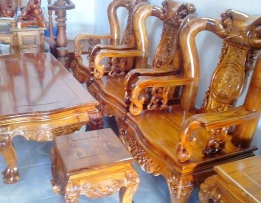 gỗ giá tỵ dùng trong nội thất