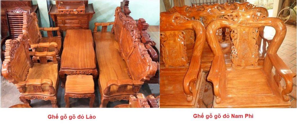 Phân biệt gỗ gõ đỏ Lào và gỗ gõ đỏ Nam phi