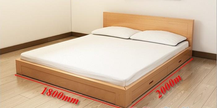 Kích thước chuẩn cho một chiếc giường ngủ đôi