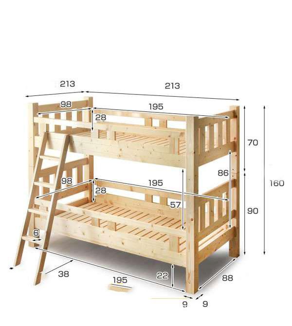 Kích thước giường tầng dành cho người lớn