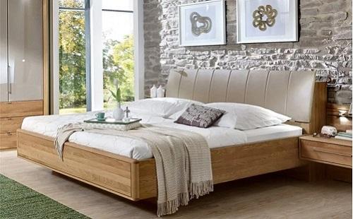 Minh họa: Mẫu giường gỗ sồi nga số 3