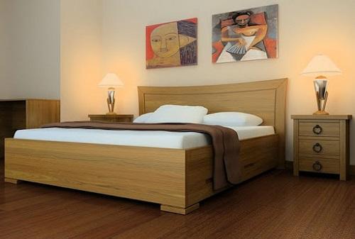 Minh họa: Mẫu giường gỗ sồi nga số 4