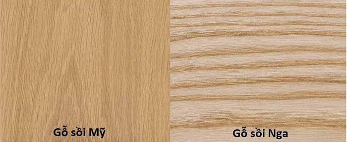 Gỗ sồi được nhập khẩu ở Mỹ và gỗ sồi Mỹ và nhập khẩu từ nga là gỗ sồi Nga