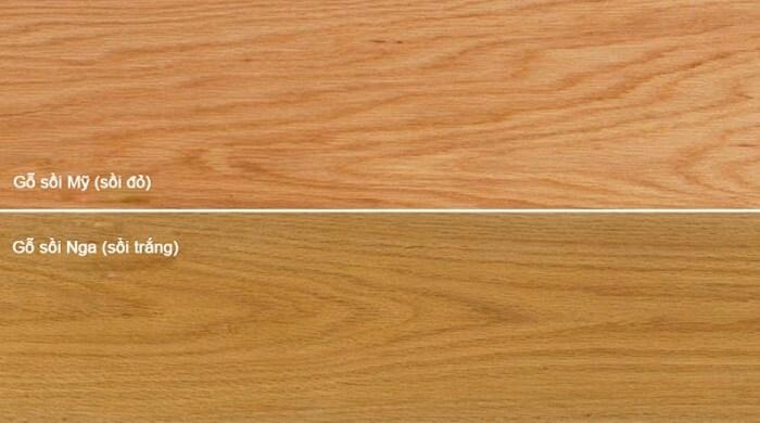 Phân biệt gỗ sồi Nga và gỗ sồi Mỹ
