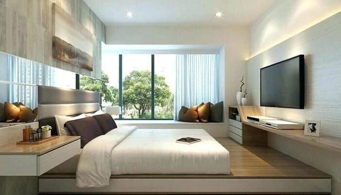 Tận dụng khoảng không khi thiết kế phòng ngủ không cần giường