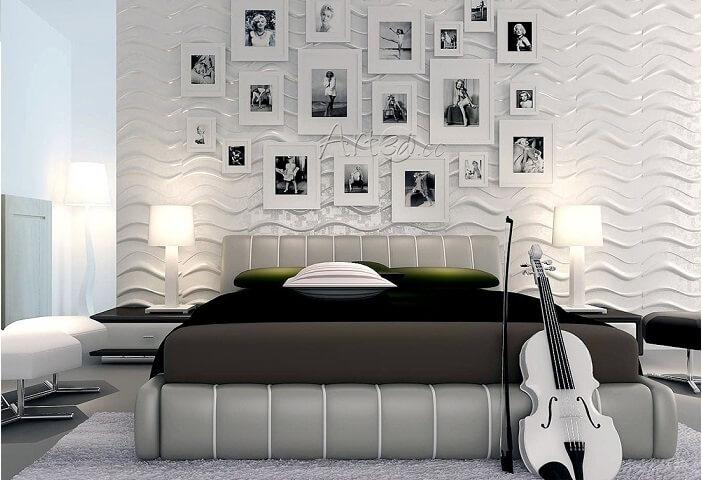 Trang trí đầu giường bằng tranh, ảnh