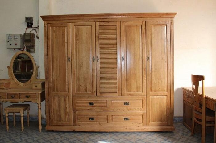 tủ quần áo gỗ gội