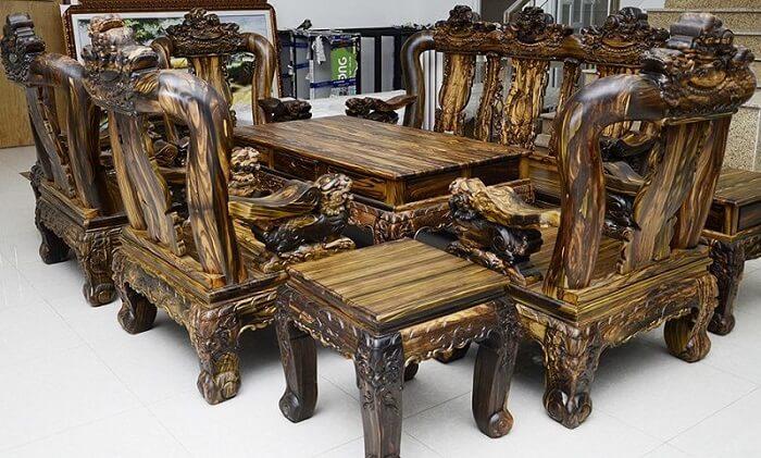Bàn ghế gỗ mun