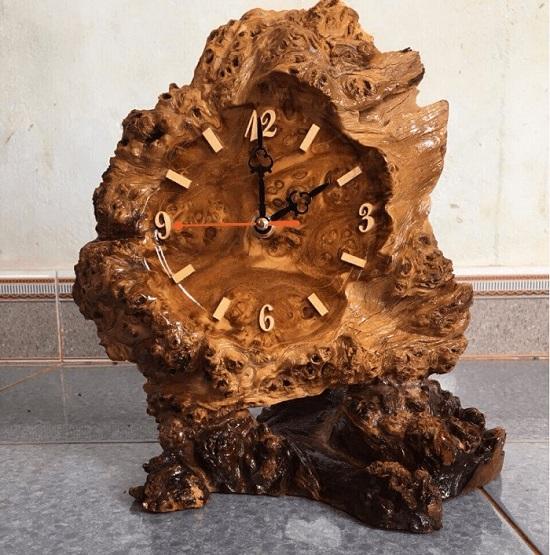 Đồng hồ nu gỗ nghiến