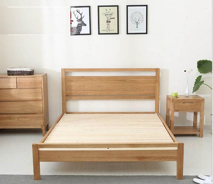 Giường ngủ gỗ keo