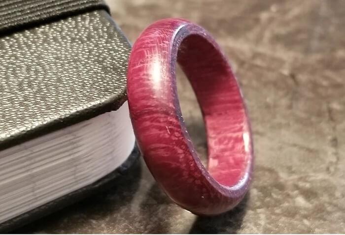 Nhẫn gỗ Purple Heart