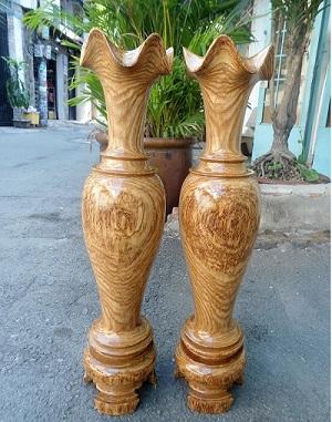 Cặp lục bình gỗ muồng vàng