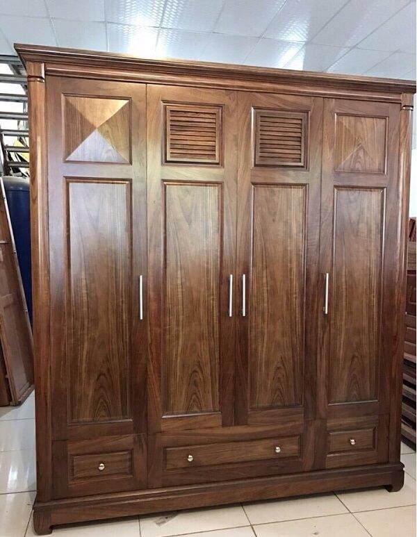 Tủ quần áo gỗ muồng