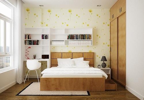 Sử dụng tủ âm tường cho phòng ngủ