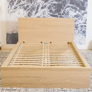 Giường gỗ 1m2 lắp ráp với mạng nang giường siêu chắc chắn