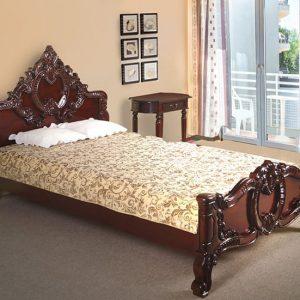 Giường gỗ 1m2 mang phong cách cổ diển cực kỳ sang trọng cho phòng ngủ