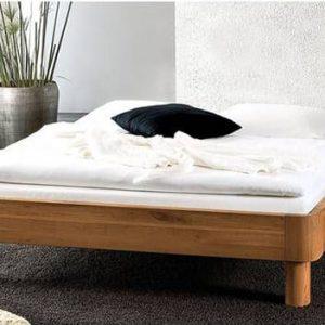 Giường gỗ 1m2 với thiết kế không đầu giường cực kỳ đơn giản