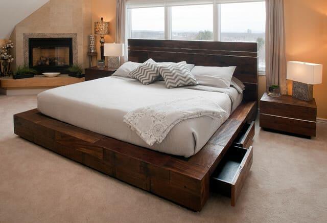 Giường ngủ gỗ tự nhiên kiểu Nhật