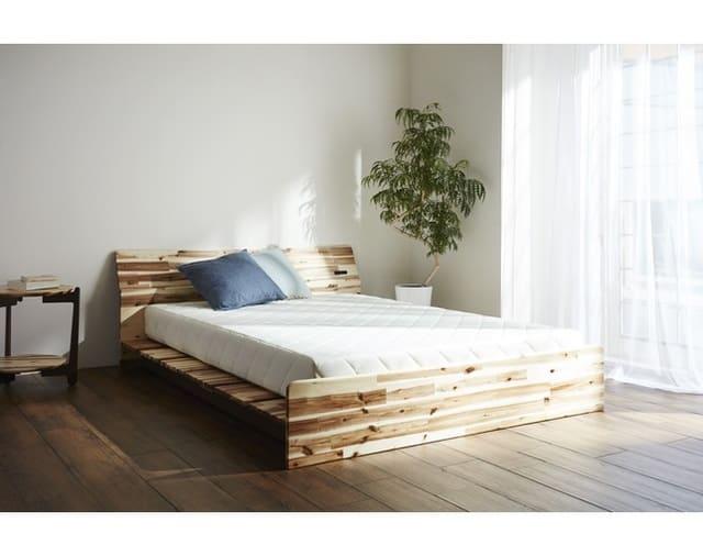 Giường kiểu Nhật gỗ keo thông minh với 3 nấc điều chỉnh độ cao