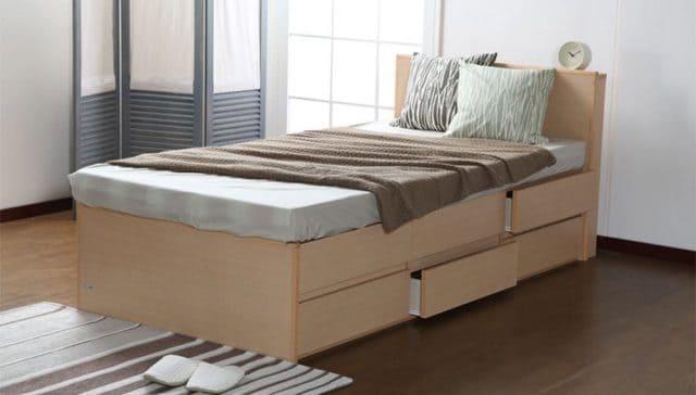 Giường kiểu Nhật với 2 tầng ngăn kéo