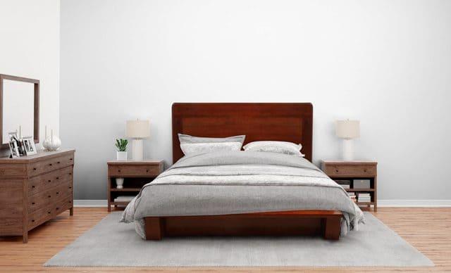 Giường ngủ kiểu Nhật gỗ cà chít
