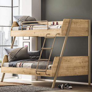 Giường tầng 1m2 cho trẻ em cực kỳ đơn giản nhưng không kém phần bắt mắt