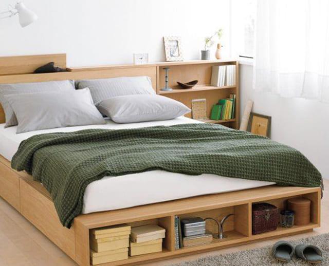 Giường ngủ kiểu Nhật có ngăn chứa đồ dưới chân