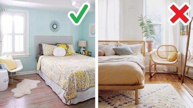 sắp xếp giường 1m hợp phong thủy