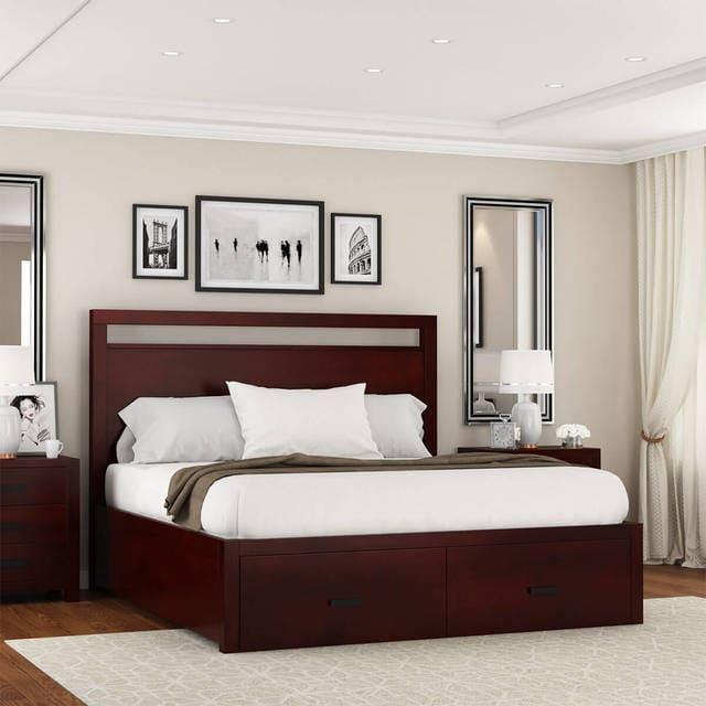 mẫu giường gỗ đep